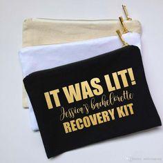 """""""It was Lit"""" Bachelorette Squad Hangover Survival kit bags"""