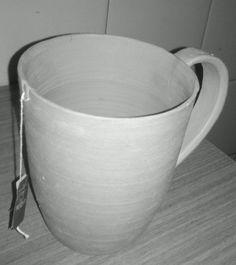 Taza hecha en alfareria , para saquito de TE