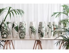 JUNGLE is the name of new, limited edition of hand-painted ceramic vases made by recognized Polish illustrator and designer Malwina Konopacka. The series Ceramic Painting, Ceramic Vase, Apartment Furniture, Furniture Decor, Interior Photography, Photography Ideas, Hand Painted Ceramics, Glass Vase, Floral Design