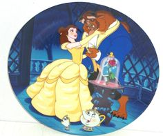 Disney Belle Beauty Beast Collector Plate Potts Princess Learning Love Knowles…