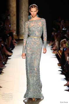 elie saab fall winter 2012 2013 couture long sleeve sheath gown  http://www.weddinginspirasi.com/2012/07/06/elie-saab-fall-2012-couture/#