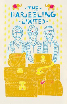 The Darjeeling Limited (2007) ~ Alternative Movie Poster by Heather Lund #amusementphile