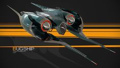 concept ships: BUGSHIP by Vaughan Ling