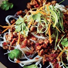 This delicious sweet chilli pork is a frugal recipe idea for a midweek meal. Pork mince is enhanced with Asian inspired flavours and served with rice noodles.