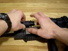 "Fenix Light TK11 with KZ 1"" flashlight mount, mounted on AR15 with quad rails - http://fotar15.com/fenix-light-tk11-with-kz-1-flashlight-mount-mounted-on-ar15-with-quad-rails/"