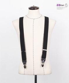 Korea men's fashion mall, Hong Chul style [NOHONGCUL.COM GLOBAL] Wide Suspenders / Size : FREE / Price : 18.92 USD  #suspenders #black #dandy #acc #mensfashion #koreafashion #man #KPOP #NOHONGCUL_GLOBAL #OOTD