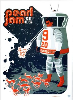 Pearl Jam Event Poster Quebec September 20.2005 by Ames Bros
