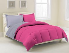 Reversible comforter with matching shams, New age microfiber, Anti -down, Duvet, Easy Care, Quilt