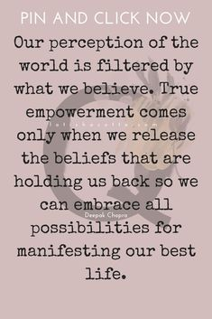 True. What I was raised to believe. It is time for me to see the world through my own eyes