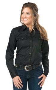 Cinch Women's Black Long Sleeve Western Snap Shirt | Cavender's