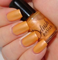 Dipped in Lacquer - Delush Polish It Takes Two To Mango