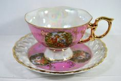 Vintage Tea Cup and Saucer Lusterware Set