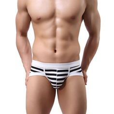 ff527a707b Newly Design Men s Sexy Stripe Cotton Underwear shorts men underpants Gay  Soft Briefs Drop Shipping