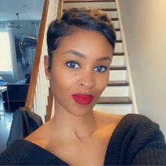 Short Relaxed Hairstyles, Black Girl Short Hairstyles, Pixie Hairstyles, Pixie Haircut, Short Hair Cuts, Short Hair Styles, Classy Hairstyles, Haircuts, Hair Laid