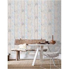 Decomode vliesbehang hout grijs blauw praxis interieur for Daamen interieur