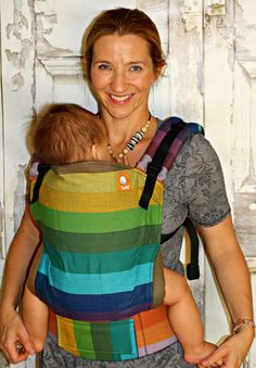 (Standard Size) Full Wrap Conversion Tula Baby Carrier - Girasol Enfys Columbia