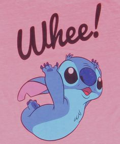 Womens Lilo & Stitch Whee T-Shirt logo