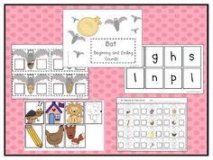 Can Do Kinders: beginning and ending sounds