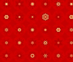 Scandinavian Snowflakes fabric by friztin on Spoonflower
