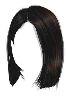 Manga Clothes, Drawing Anime Clothes, Anime Girl Drawings, Hair Illustration, Fashion Illustration Sketches, Fashion Sketches, Girl Hair Drawing, Pelo Anime, Hair Png