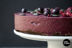 <p>Colorful and packed with nutrients, this cheesecake will take care of your body and your tastebuds.</p>