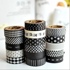 10pcs/Lot Different Black & White Classic Washi Tapes Masking Tapes for DIY Crafts Scrapbooking Decorative Crafts 1.5cm x 10m-in Office Adhesive Tape from Office & School Supplies on Aliexpress.com | Alibaba Group