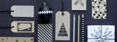 A black and white Christmas from Papermash
