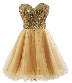 Stunning Sweetheart Gold Homecoming Dresses Sequins Corset Beading Short Prom Dress 2017 Cheap 8 Grade Graduation Dresses