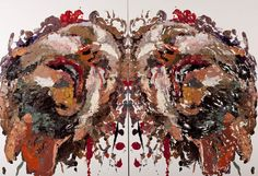 'Mushy Monoprint Project' look at Ben Quilty's Rorschach work - get students to place a photocopy of their face under a sheet of Perspex and on top fill shapes of face with thick impasto paint (acrylic w/ medium or oils) and place a piece of canvas paper on top and press down all over (firmly) and then lift print