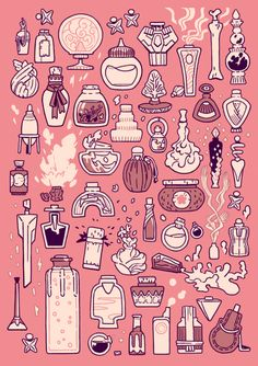 "elemei: "" 50 potion bottles, this collection ranges from hangover cures to pot… elemei: "" 50 potion bottles, this collection ranges from hangover cures to potent poisons. watch out for the cartwheeling magic caffeine! Illustration Inspiration, Illustration Art, Prop Design, Web Design, Posca Art, Poses References, Potion Bottle, Witch Art, Witch Aesthetic"