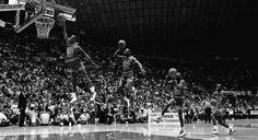 His airiness, Michael Jordan, slam dunk.