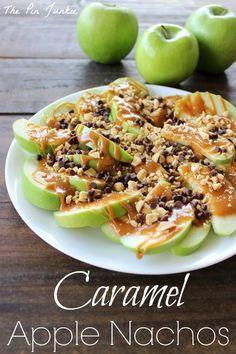 Caramel Apple Nachos on MyRecipeMagic.com