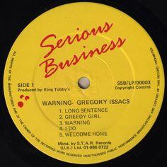 Gregory Isaacs - Warning (Label)
