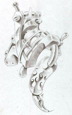 tattoo machine design - Cerca amb Google