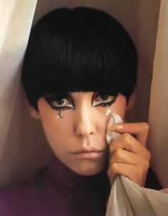 INSPIRATION @MUSEBEAUTY: She steps to her own beat - MUSE, Peggy Moffitt often did her own makeup…the 60's just followed. Add a little extra eye liner and color today!