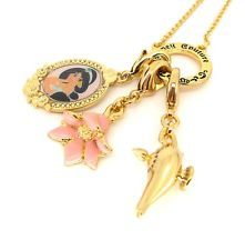 Disney Couture Gold-Plated Three Charm Necklace Set - Aladdin
