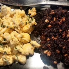 Black pudding Truffle with Scrambled eggs. #cookingwithluce #quickmeals #healthychoices #scottishfood #breakfast #blackpudding
