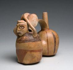 Rare Peruvian Nievierra Drummer Vessel