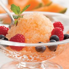 Melon & Apple Granita (Snacking for 100 Calories or Less)