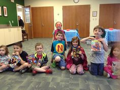 Some of the little superheroes at last night's Storytime for ages 4 - 7.  There are still some spots left for next week!  Register here:  http://ow.ly/NfpaO