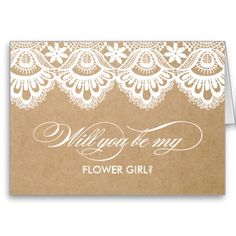 RUSTIC LACE | BRIDESMAID CARDS #wedding #zazzle #fineanddandypaperie