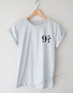 Platform 9 3/4 Harry Potter Shirt Tumblr Hipster T-shirt Unisex S,M,L,XL Size
