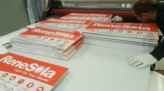 That's a lot of signs! This impressive stack of signs completed by Speedpro Imaging Toronto West! Outdoor Signage, Toronto, Signs, Exterior Signage, Shop Signs, Sign, Signage, Dishes