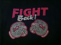 Breast Cancer Boxing Gloves Fight Back Rhinestone Iron on Transfer Bling | eBay