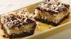 Chocolate-Hazelnut-Coconut Bars.