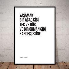 Nazım Hikmet / Yaşamak. Doovar'dan Türkçe Posterler!