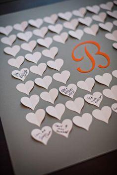 Hochzeit Gästebuch später gerahmt werden!