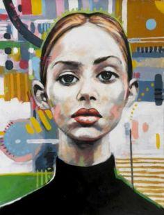 "Saatchi Art Artist Thomas Saliot; Painting, ""asymmetrical girl"" #art"