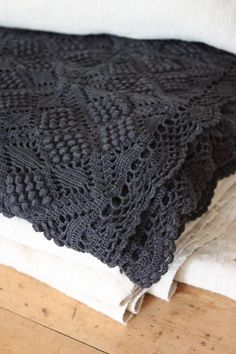 Beautiful thrifted crocheted blanket