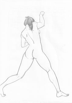 female figure drawing pencil on paper